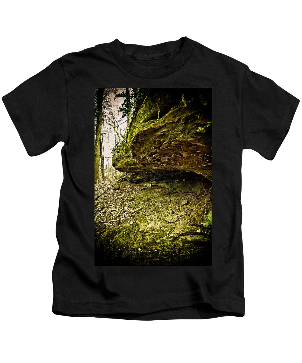 Cave. Nature Kids T-Shirt featuring the photograph Cave by Shirley Tinkham