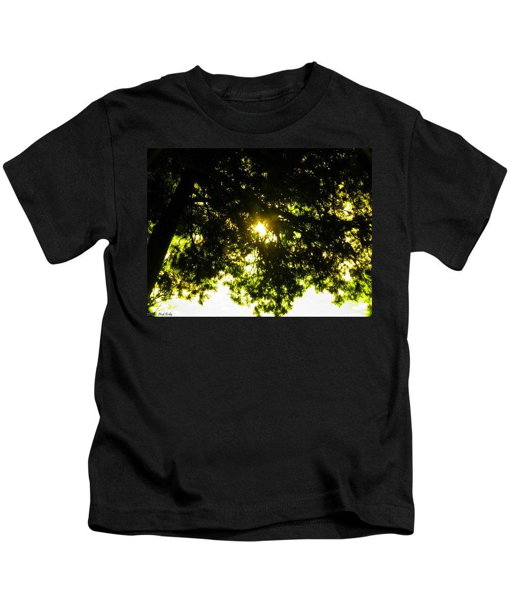 Cedar Kids T-Shirt featuring the photograph Cedar Filtered Sun by Nick Kirby