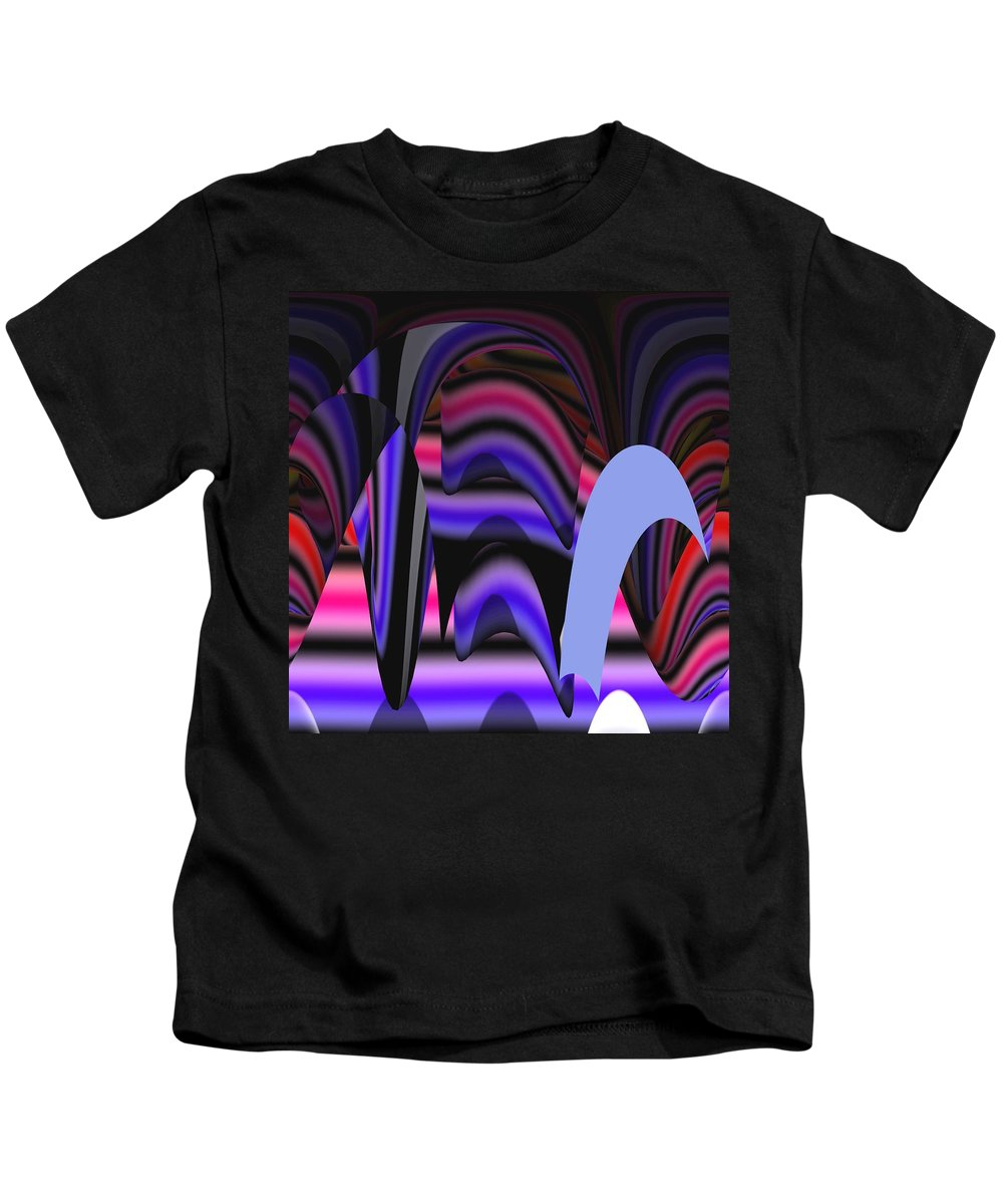 Abstract Digital Art Kids T-Shirt featuring the painting Celestial Cave Digital Art by Georgeta Blanaru