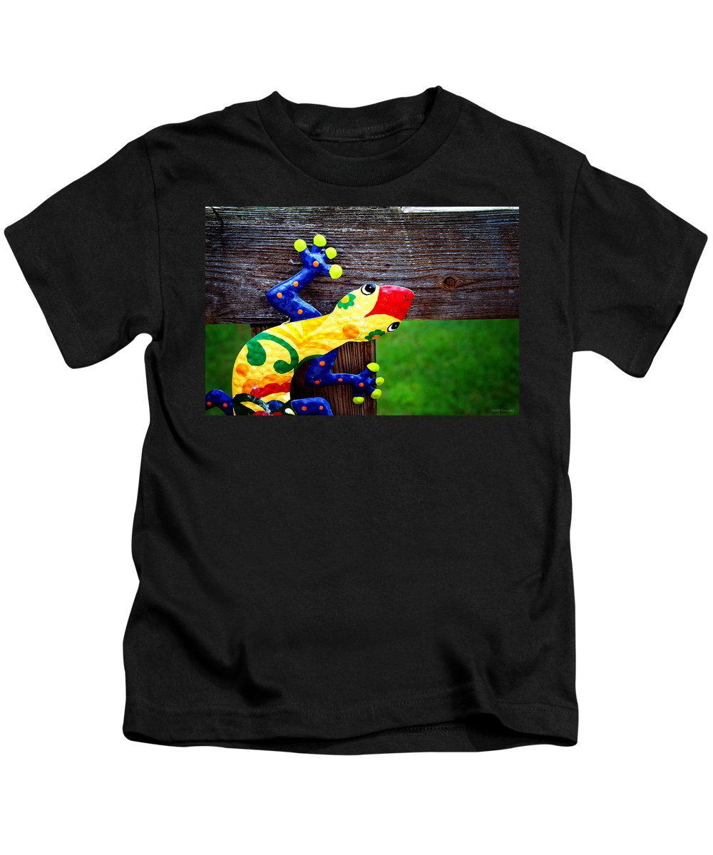 Chameleon Kids T-Shirt featuring the photograph Chameleon by Greg Simmons