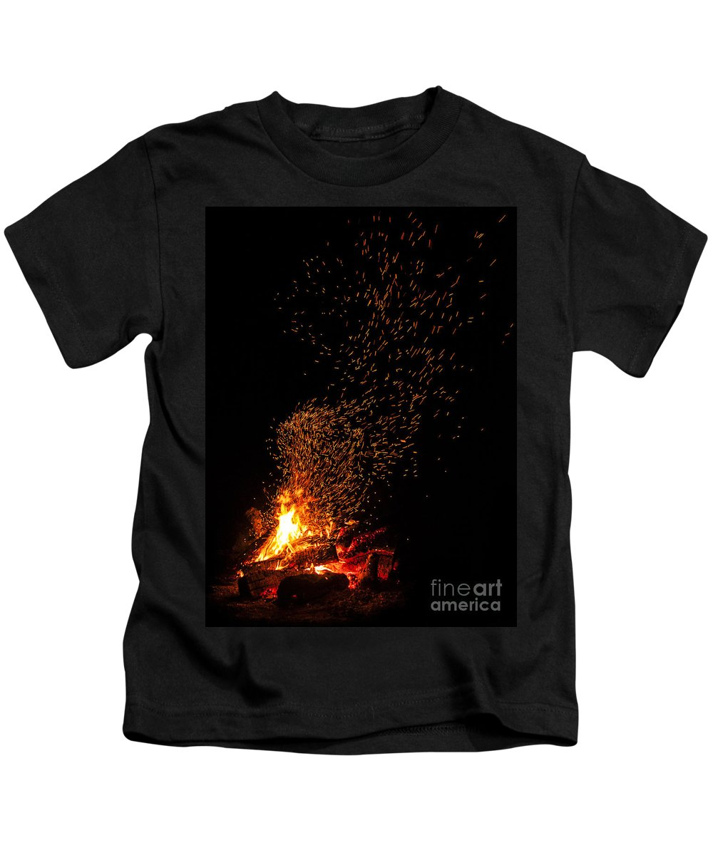 Fire Kids T-Shirt featuring the photograph Channeling Van Gogh by Andrea Goodrich