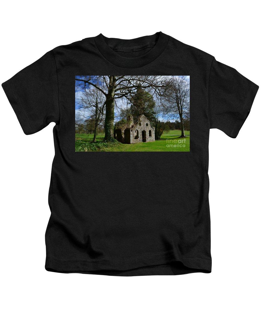 Ruins Kids T-Shirt featuring the photograph Chapel Ruins by DejaVu Designs