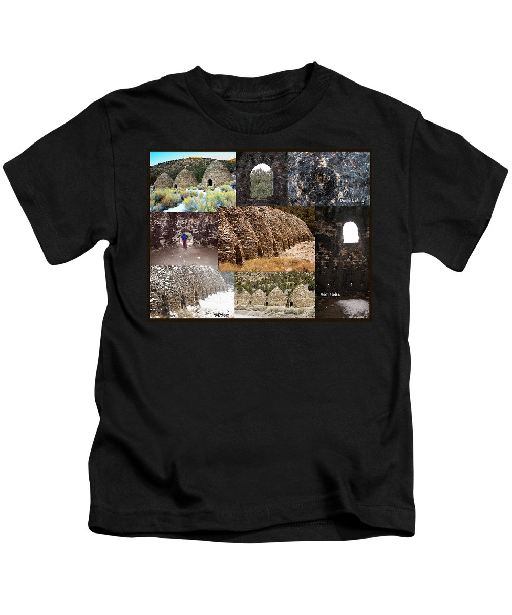 Landscapes Kids T-Shirt featuring the photograph Charcoal Kilns by David Salter