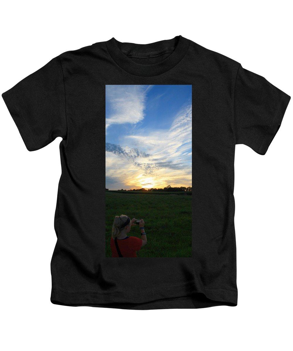 Sunset Kids T-Shirt featuring the photograph Chasing Sunsets by Dan McCafferty