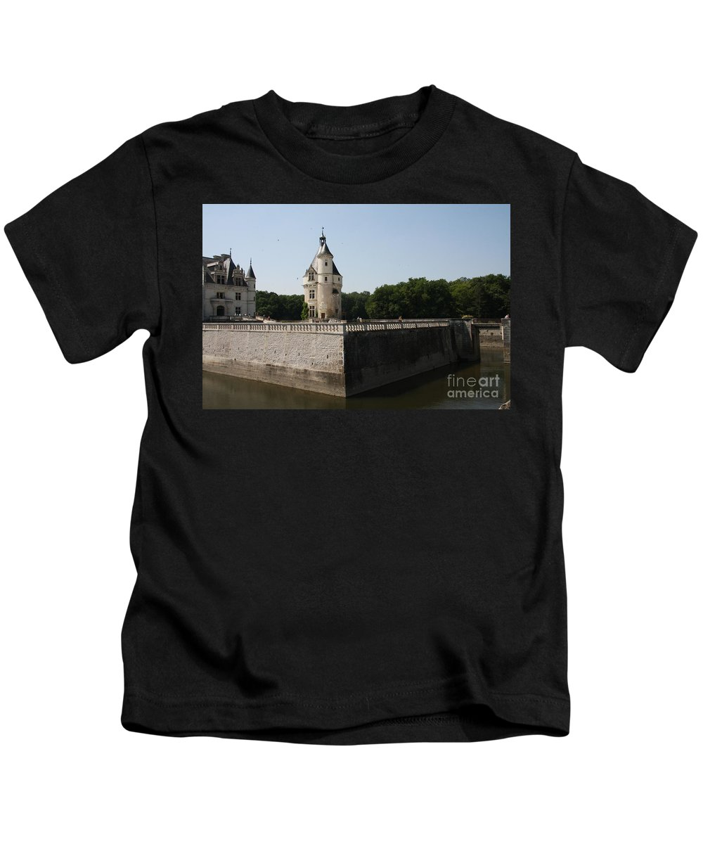 Castle Kids T-Shirt featuring the photograph Chateau And Moat Chenonceau by Christiane Schulze Art And Photography