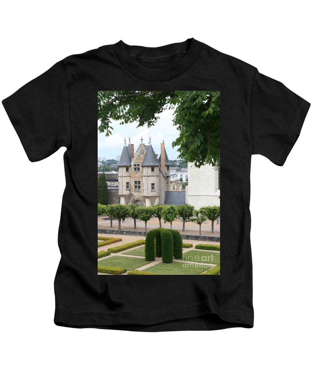 Castle Kids T-Shirt featuring the photograph Chateau D'angers - Chatelet View by Christiane Schulze Art And Photography