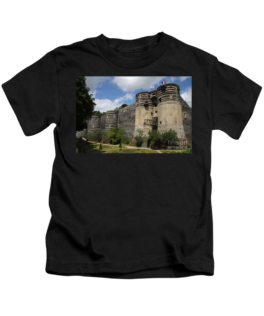 Castle Kids T-Shirt featuring the photograph Chateau D'angers - The Keep by Christiane Schulze Art And Photography