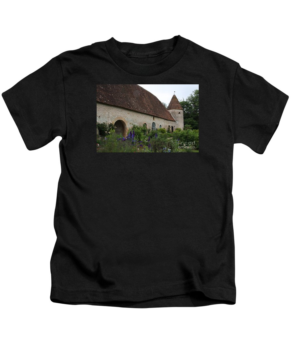 Palace Kids T-Shirt featuring the photograph Chateau De Cormatin Kitchen Garden - Burgundy by Christiane Schulze Art And Photography
