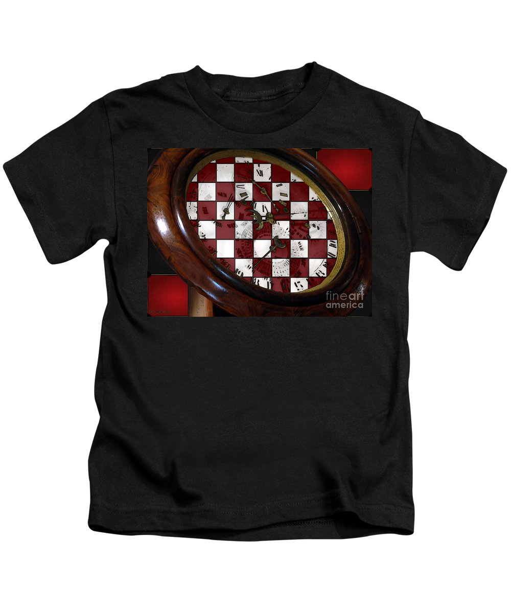 Antique Kids T-Shirt featuring the painting Checkmate by RC DeWinter
