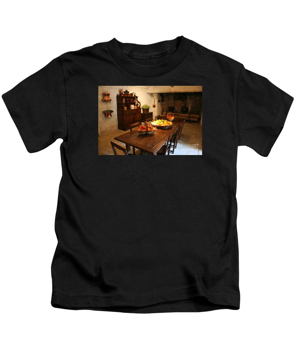 Kitchen Kids T-Shirt featuring the photograph Chenonceau Kitchen by Christiane Schulze Art And Photography