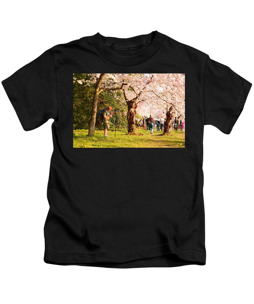 Architectural Kids T-Shirt featuring the photograph Cherry Blossoms 2013 - 009 by Metro DC Photography