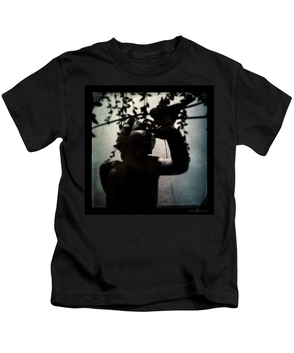 Child Kids T-Shirt featuring the photograph Child And Bird by Tim Nyberg