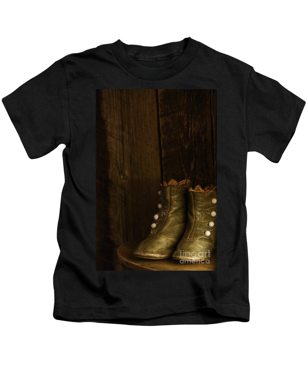 Vintage Kids T-Shirt featuring the photograph Children's Boots by Margie Hurwich