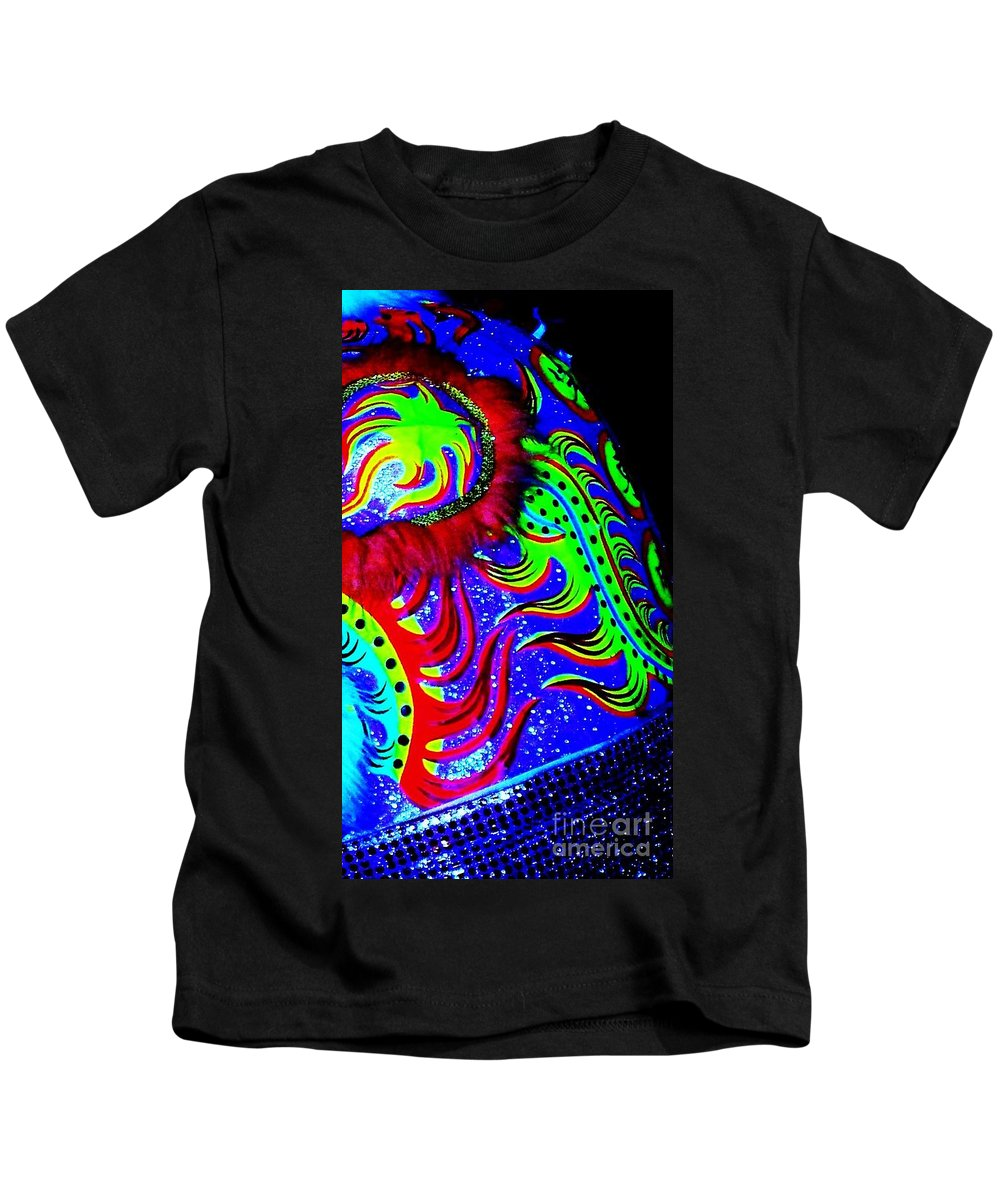 Chinese Kids T-Shirt featuring the photograph Chinese Tapestry Abstract by Eric Schiabor