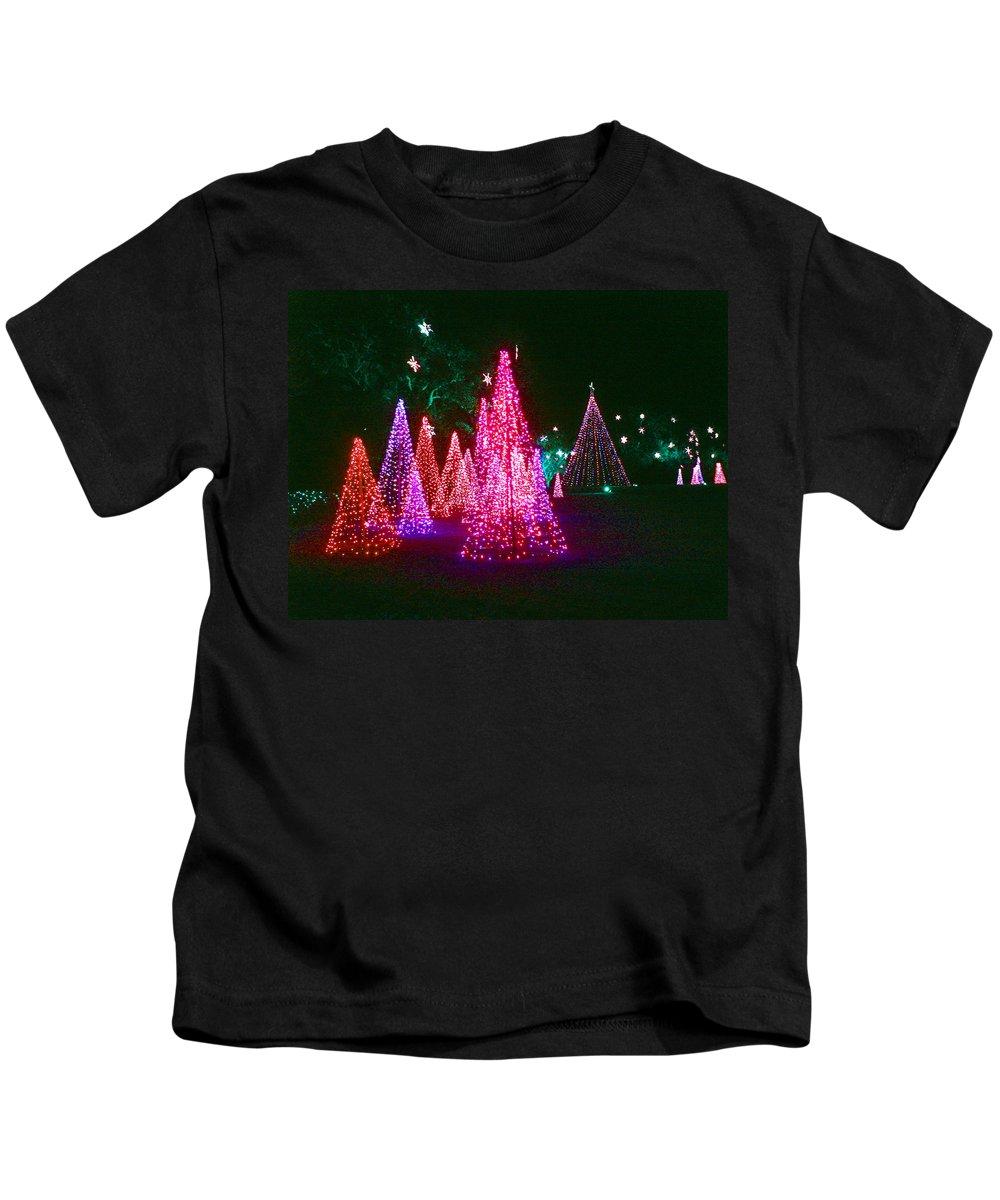 Digital Art Kids T-Shirt featuring the photograph Christmas Hues by Marian Bell