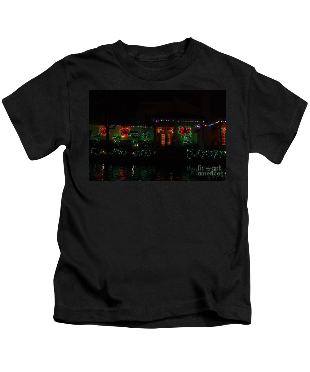 East Lake Kids T-Shirt featuring the photograph Christmas On East Lake 3 by Tommy Anderson