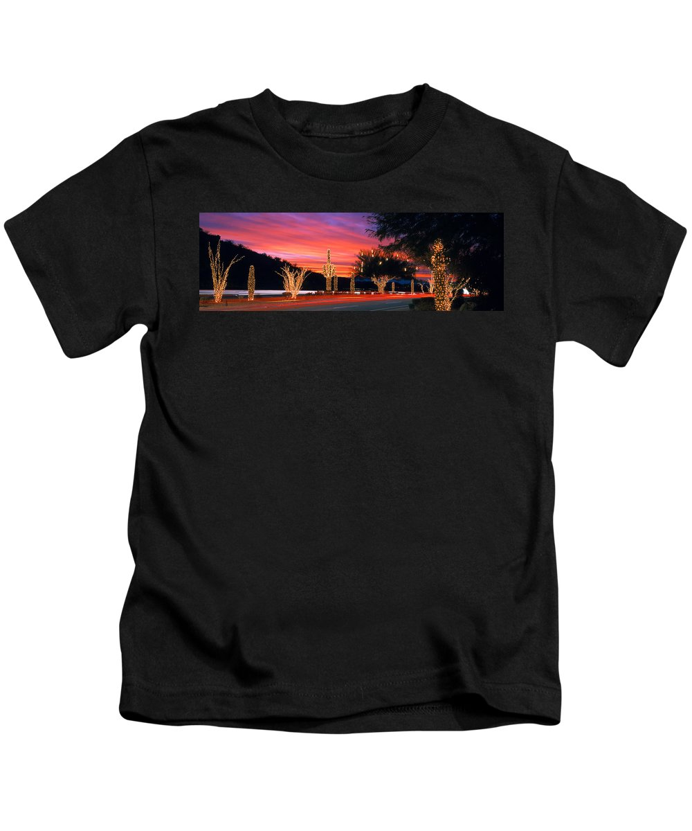Photography Kids T-Shirt featuring the photograph Christmas, Phoenix, Arizona, Usa by Panoramic Images