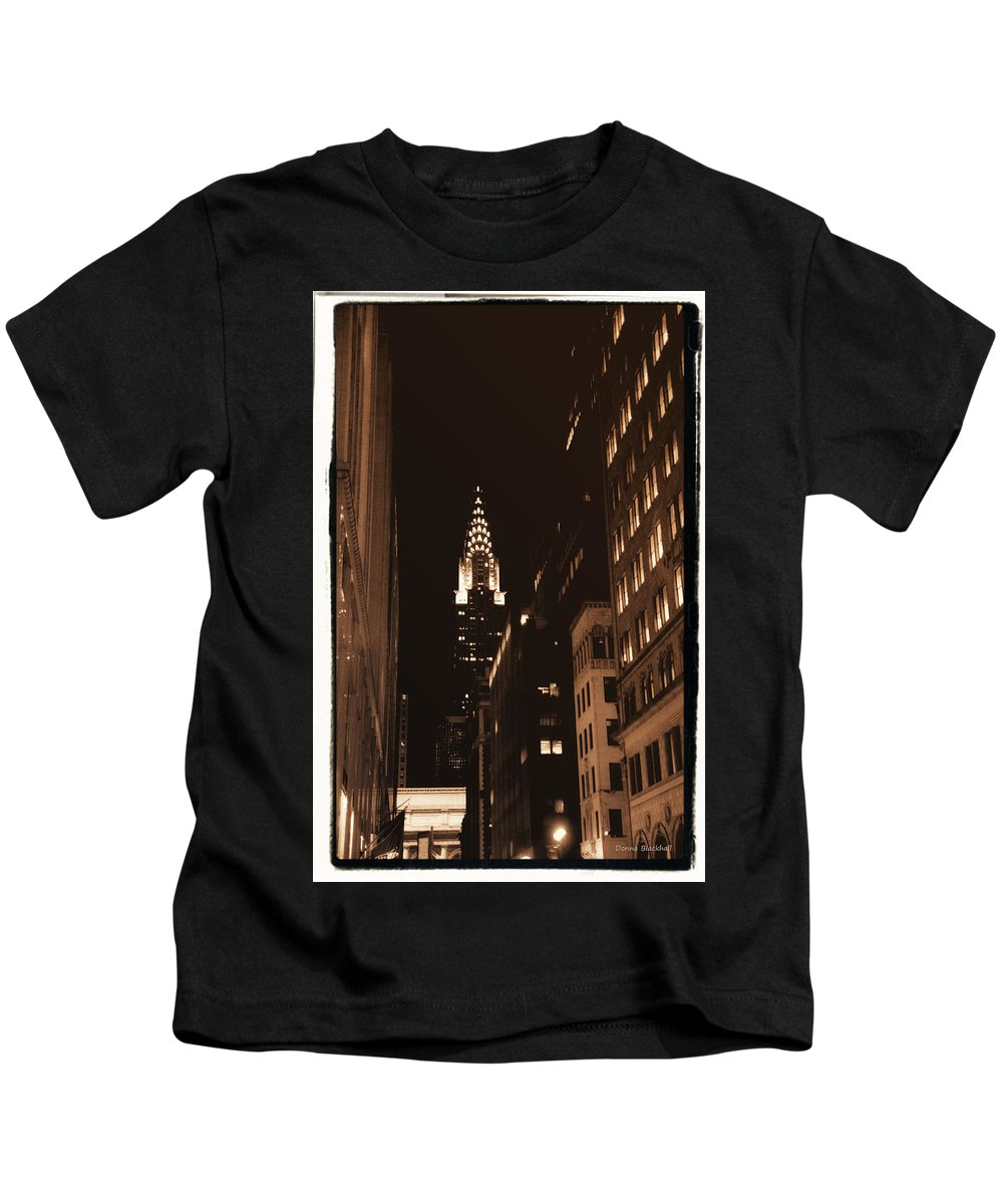 New York Kids T-Shirt featuring the photograph Chrysler Building by Donna Blackhall