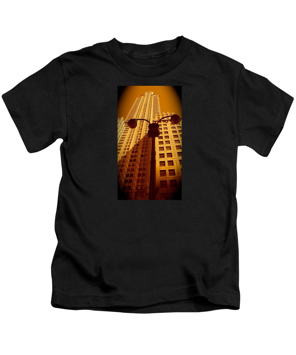 Manhattan Canvas Prints Kids T-Shirt featuring the photograph Rockefeller Building In Manhattan by Monique's Fine Art
