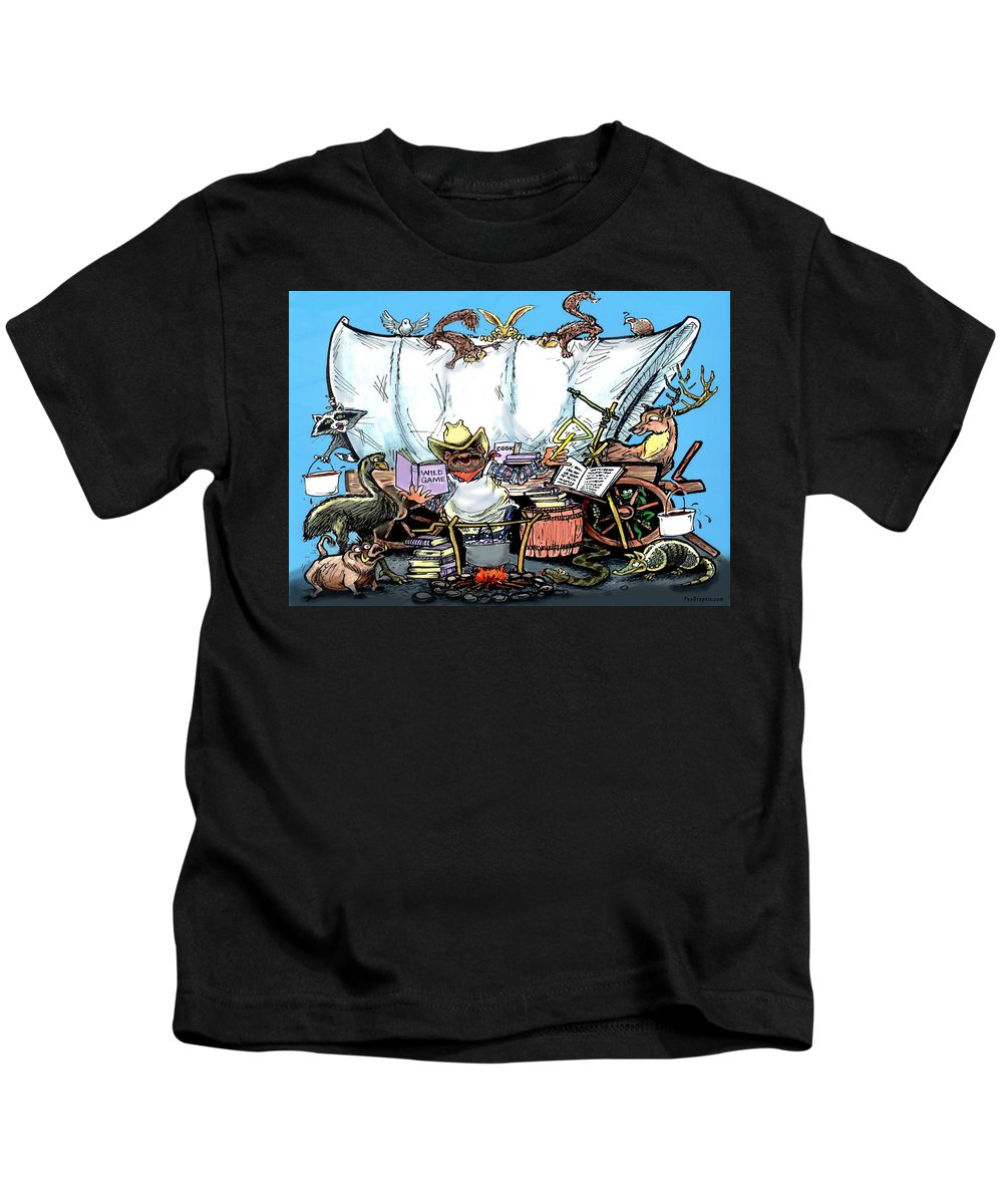Chuck Wagon Kids T-Shirt featuring the painting Chuckwagon by Kevin Middleton