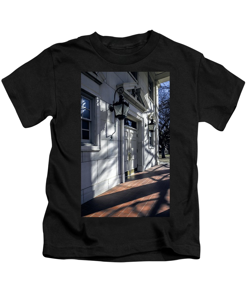 Joan Carroll Kids T-Shirt featuring the photograph Church Doorway by Joan Carroll
