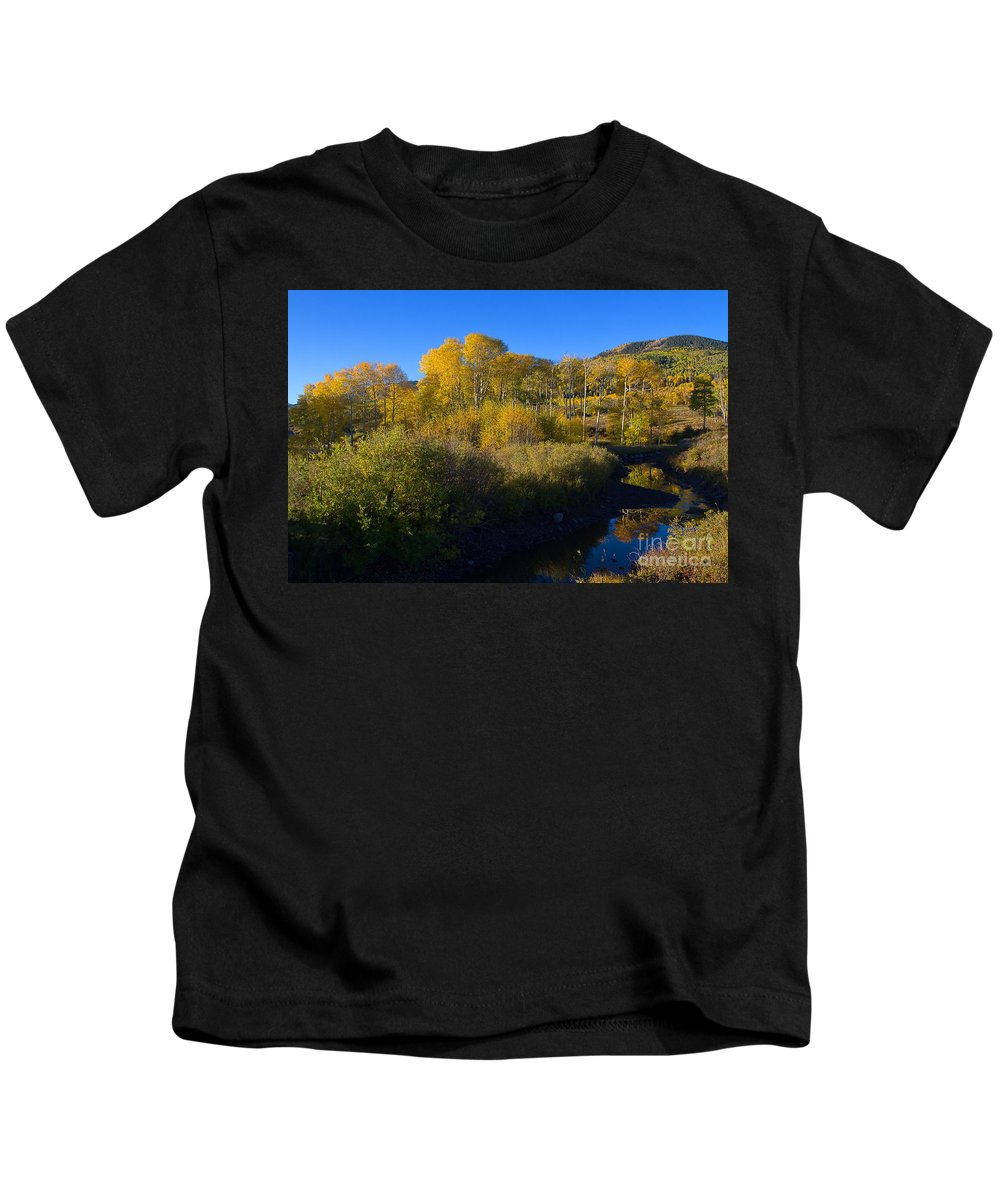 Aspen Kids T-Shirt featuring the photograph Cimarron Morning by Jim Garrison