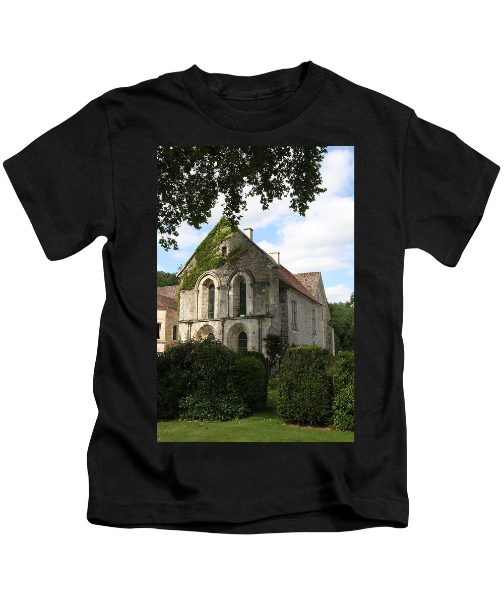 Abbey Kids T-Shirt featuring the photograph Cistercian Abbey Of Fontenay by Christiane Schulze Art And Photography
