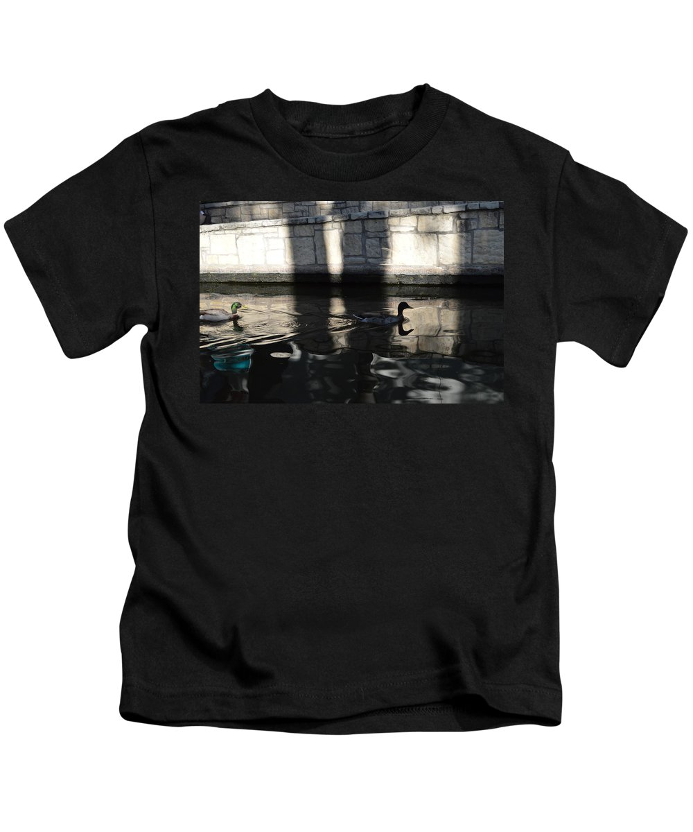 Architecture Kids T-Shirt featuring the photograph City Ducks by Shawn Marlow