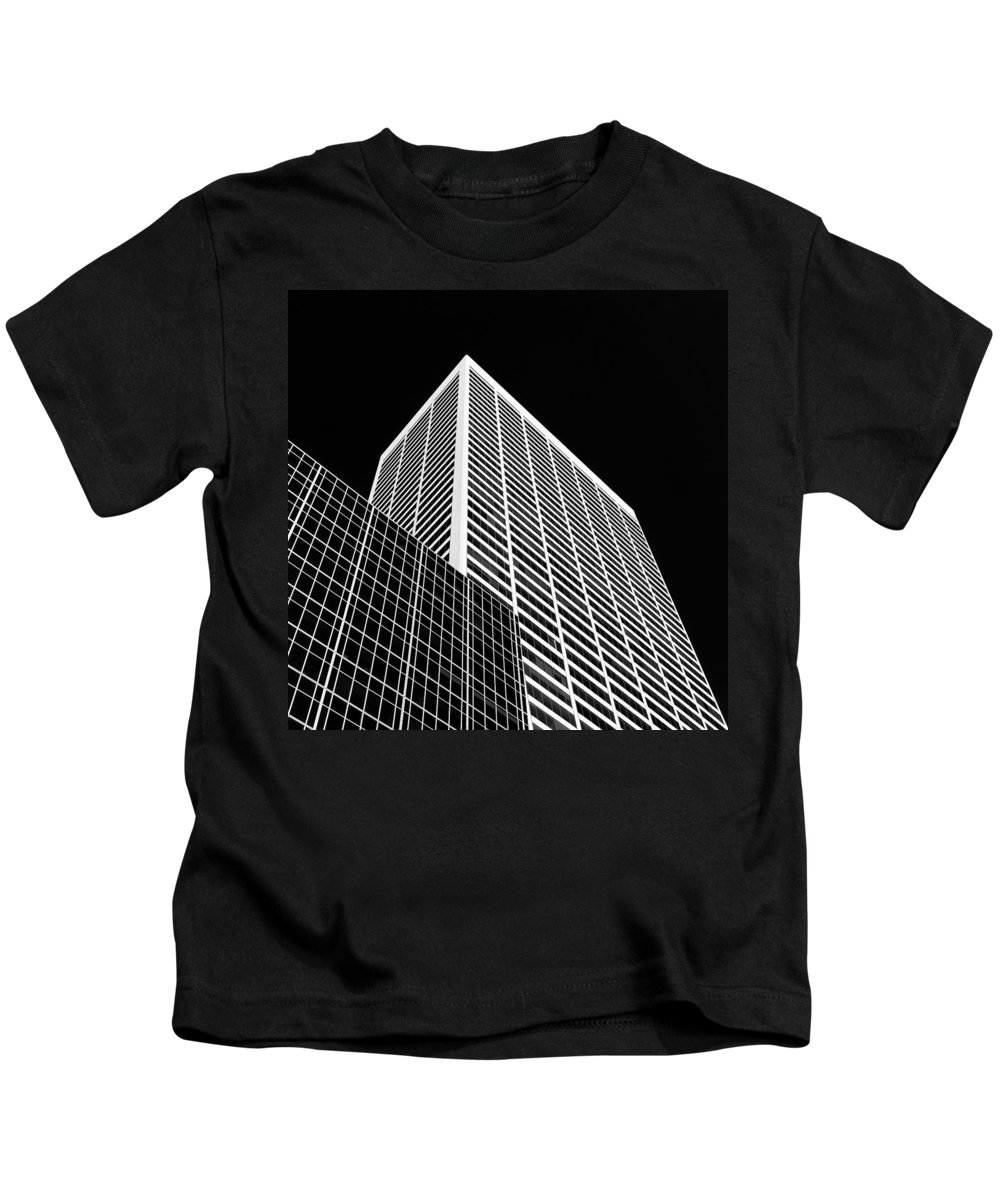 W.r. Grace Building Kids T-Shirt featuring the photograph City Relief by Dave Bowman
