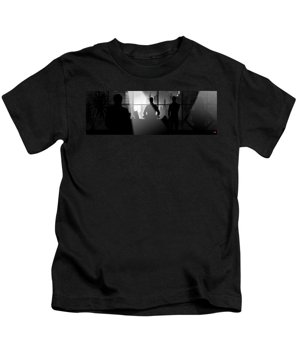 City Kids T-Shirt featuring the digital art City Scape by Trachenberg Trachenberg