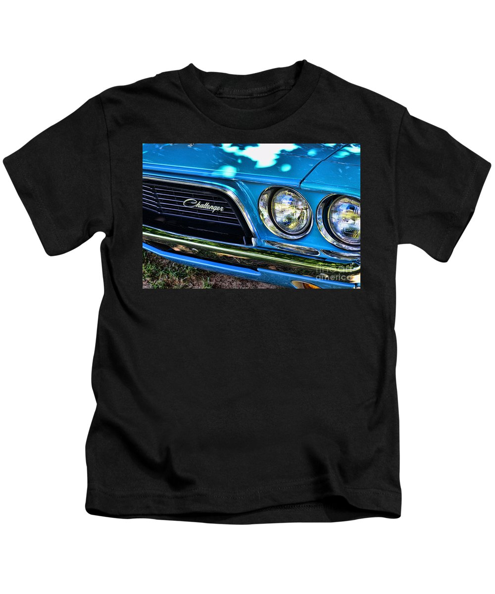 Paul Ward Kids T-Shirt featuring the photograph Classic 1974 Dodge Challenger by Paul Ward