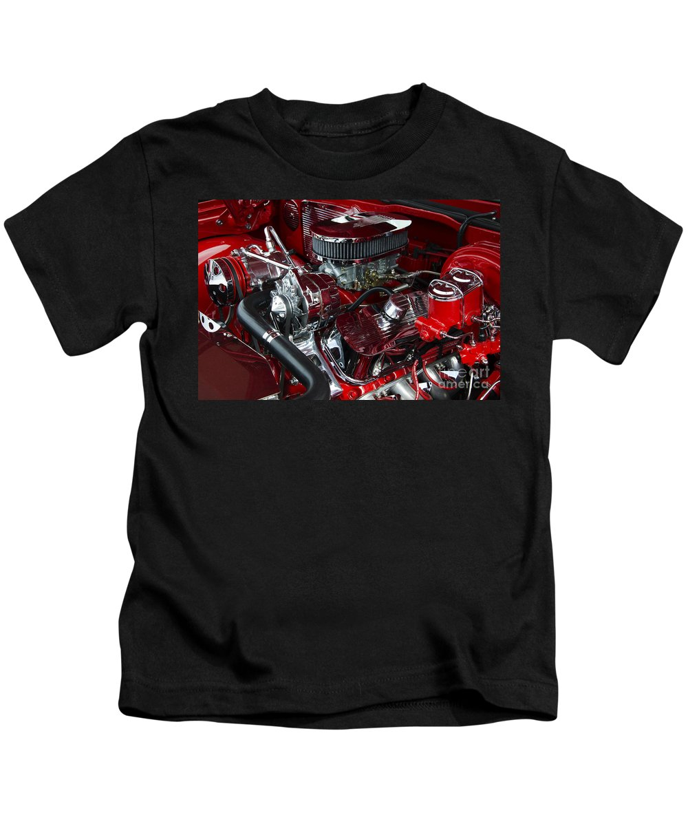 Engine Kids T-Shirt featuring the photograph Classic Cars Beauty By Design 15 by Bob Christopher