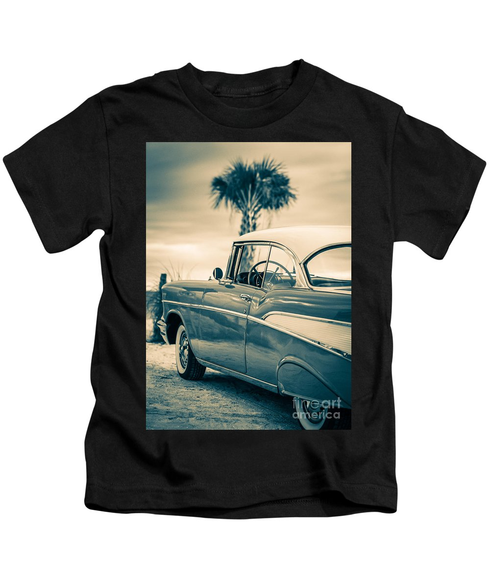 Classic Chevy Bel Air Kids T-Shirt featuring the photograph Classic Chevy Bel Air '57 by Edward Fielding