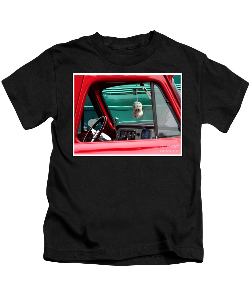 Dice Kids T-Shirt featuring the photograph Classic Dice by Rebecca Malo