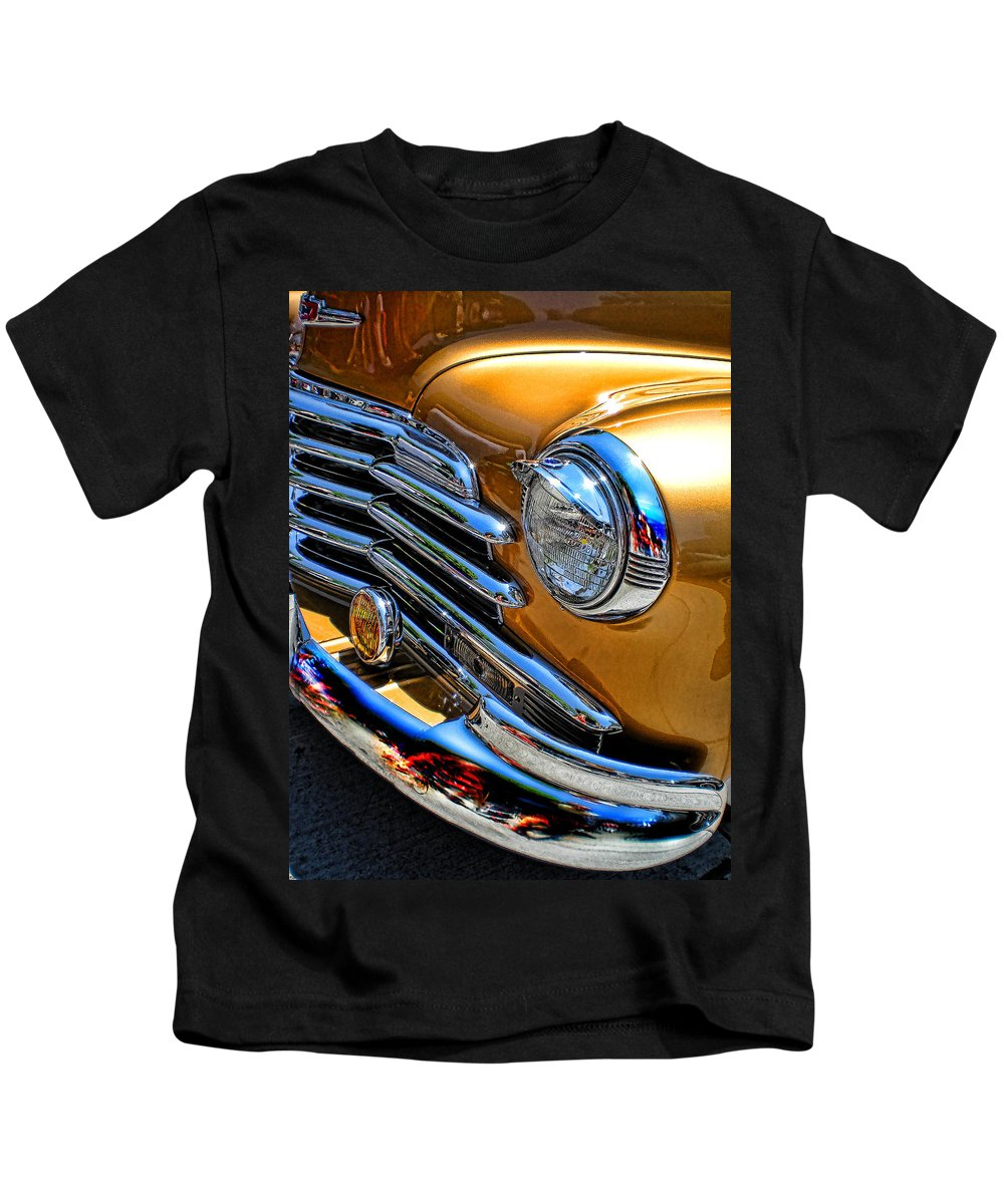 Classic Cars Kids T-Shirt featuring the photograph Classic Gold by Guillermo Rodriguez