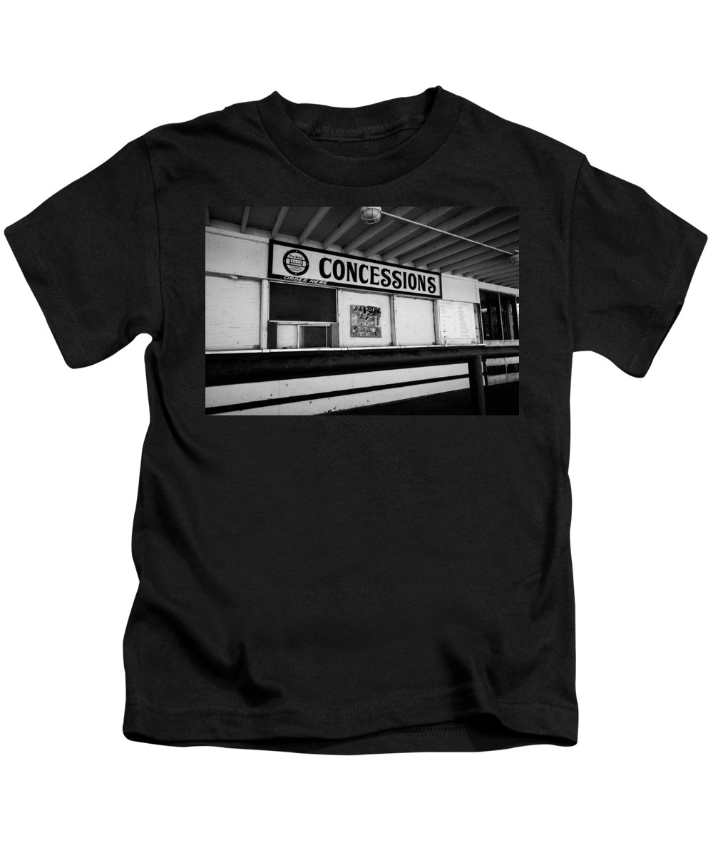 Kids T-Shirt featuring the photograph Closed For The Season by Sue Conwell