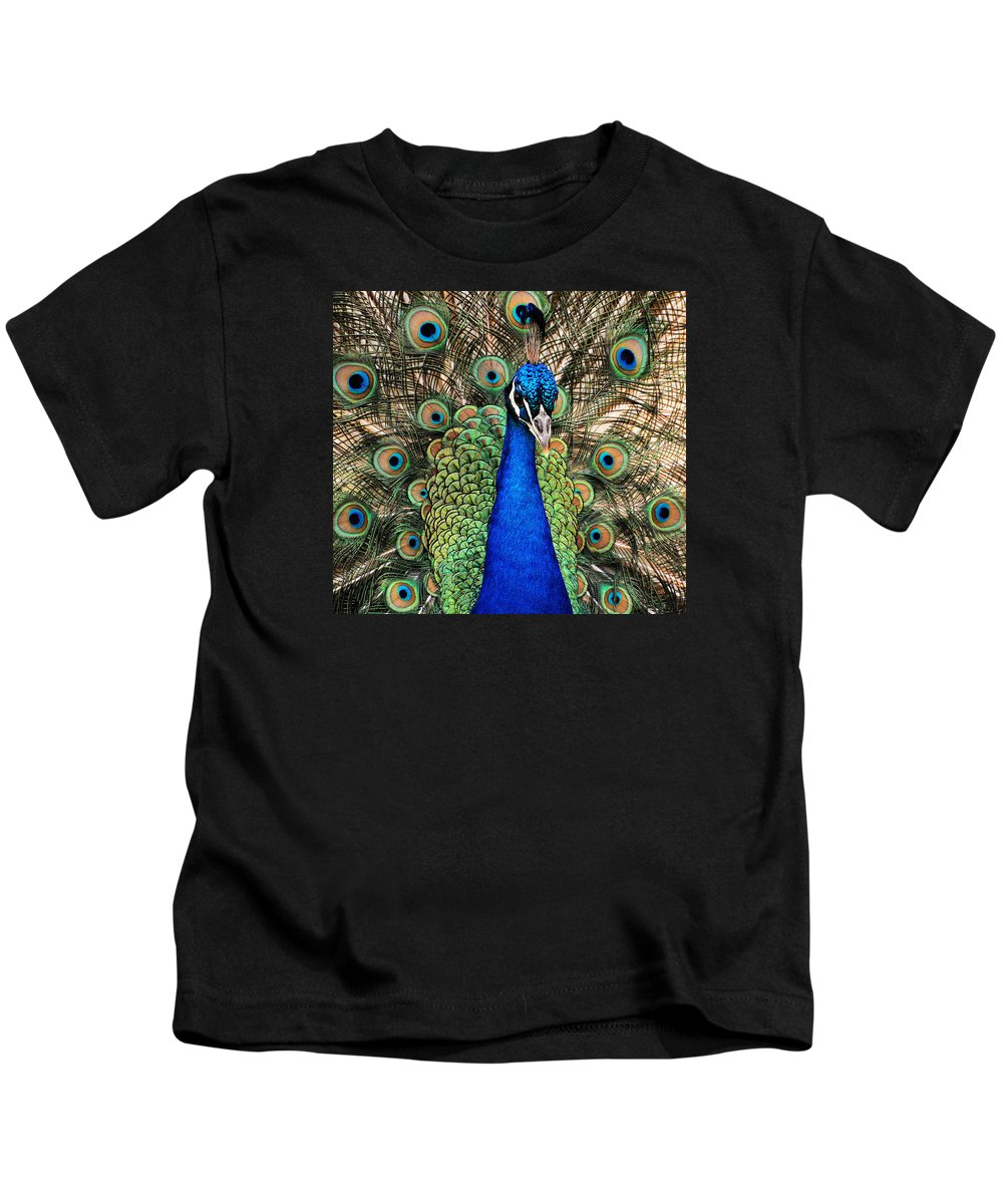 Closeup Kids T-Shirt featuring the photograph Closeup And Personal by Jean Booth