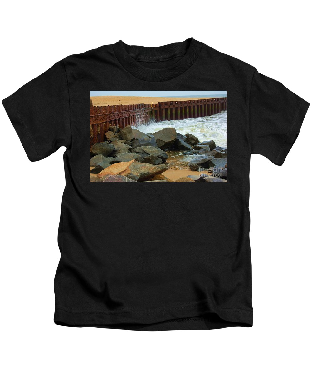 Water Kids T-Shirt featuring the photograph Coast of Carolina by Debbi Granruth