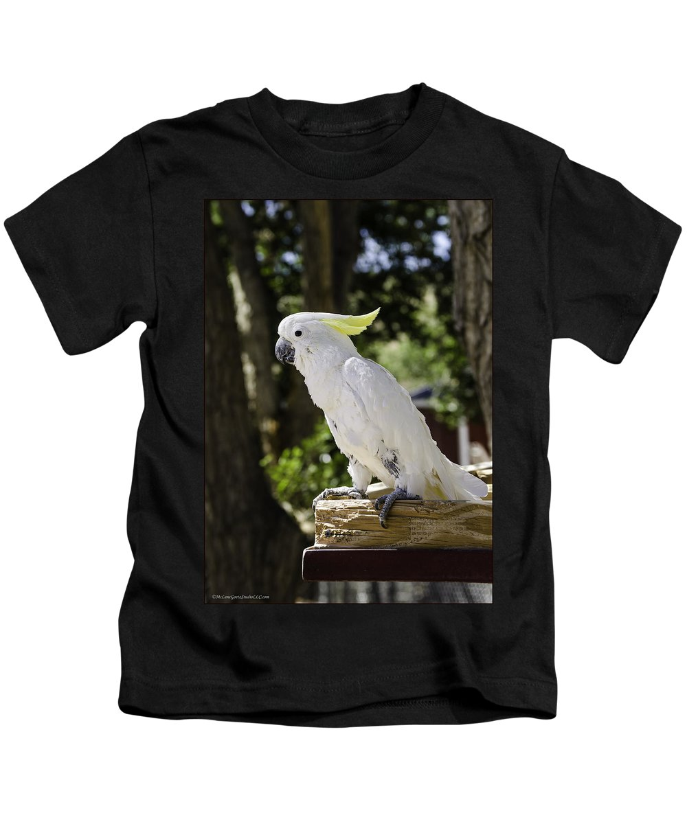 Cockatoo Kids T-Shirt featuring the photograph Cockatoo White Parrot by LeeAnn McLaneGoetz McLaneGoetzStudioLLCcom
