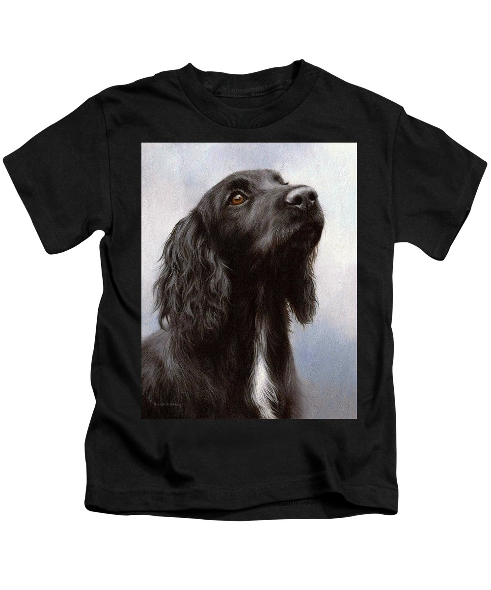 Cocker Spaniel Kids T-Shirt featuring the painting Cocker Spaniel Painting by Rachel Stribbling