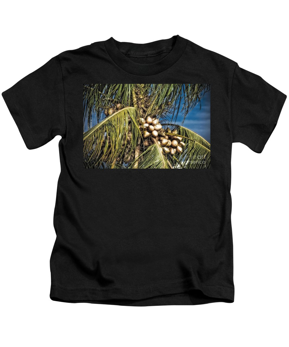 Doral Kids T-Shirt featuring the photograph Coconuts by Timothy Hacker