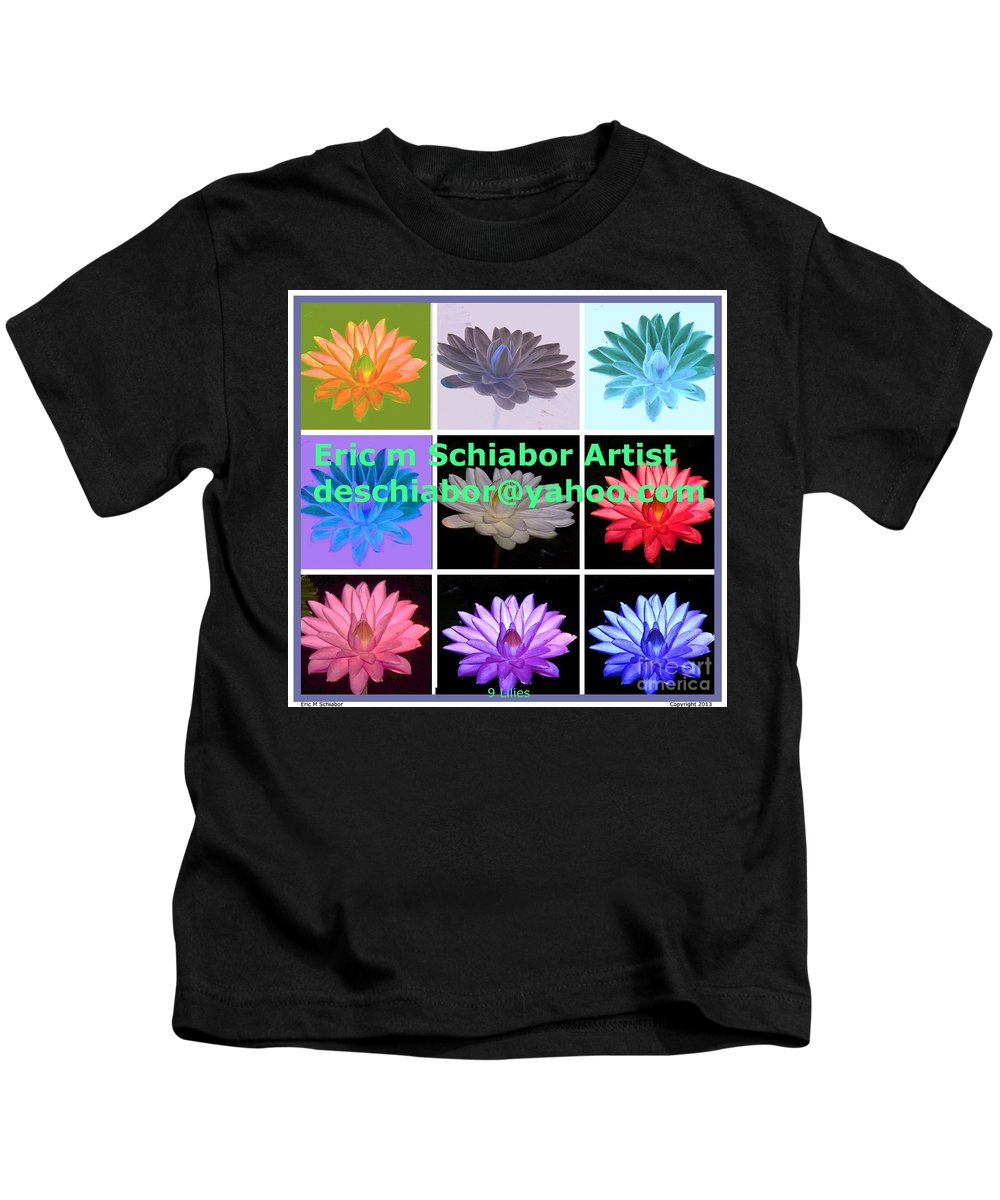 Lillies Kids T-Shirt featuring the painting Color Of Lilies by Eric Schiabor