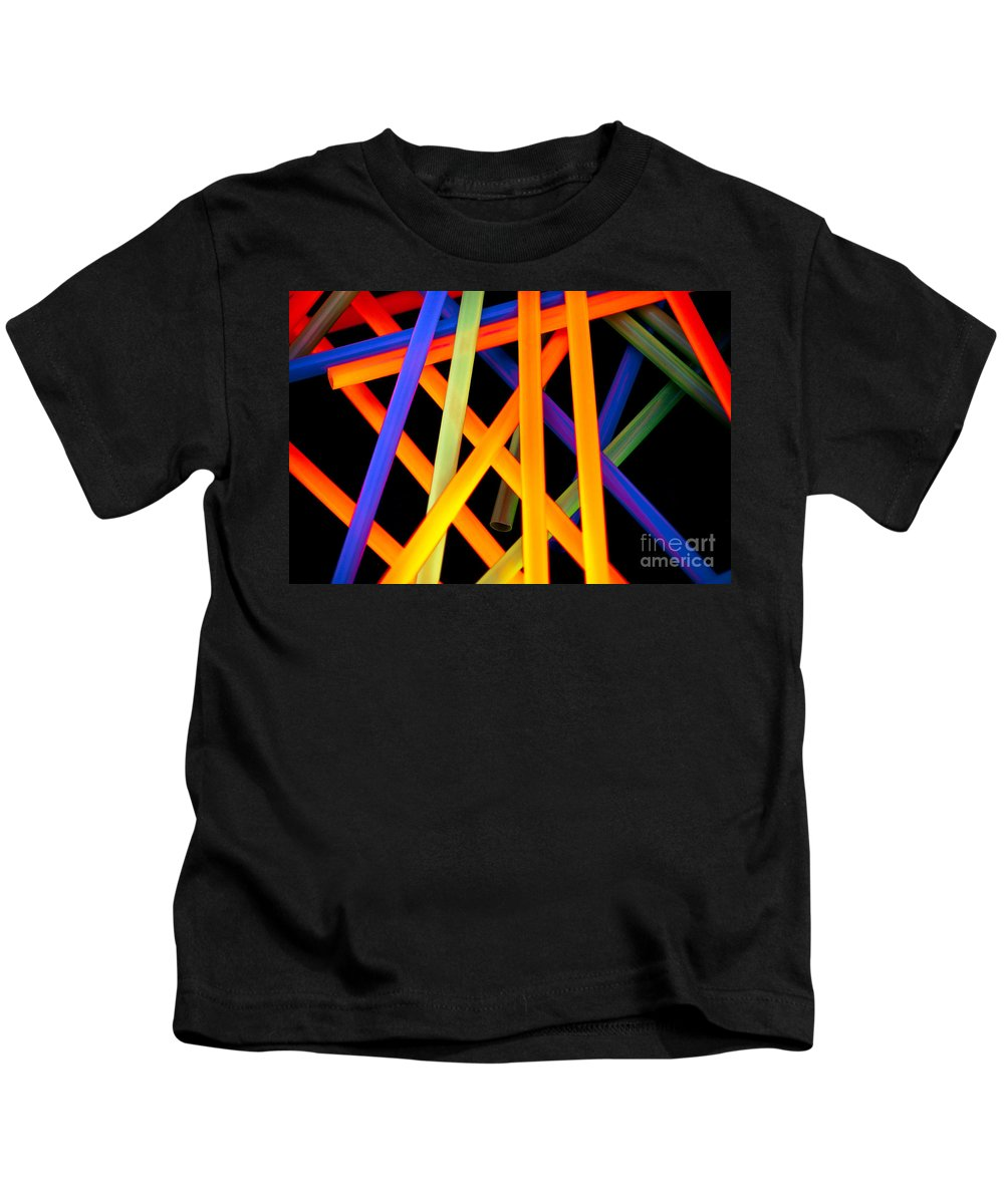 Color Kids T-Shirt featuring the photograph Coloring Between The Lines by Charles Dobbs