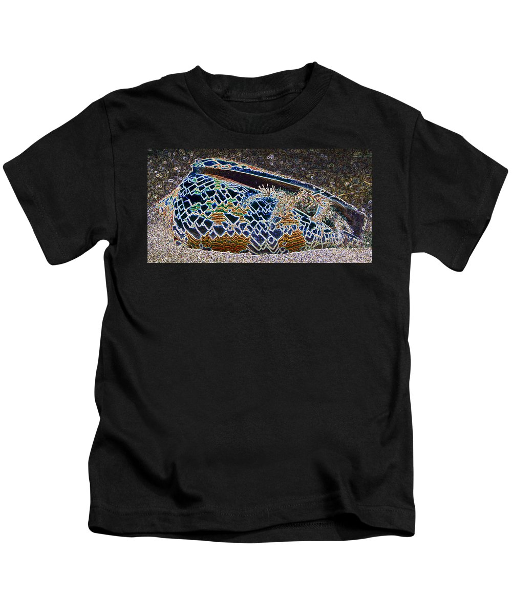Abstract Kids T-Shirt featuring the digital art Colourful Crab by Roy Pedersen