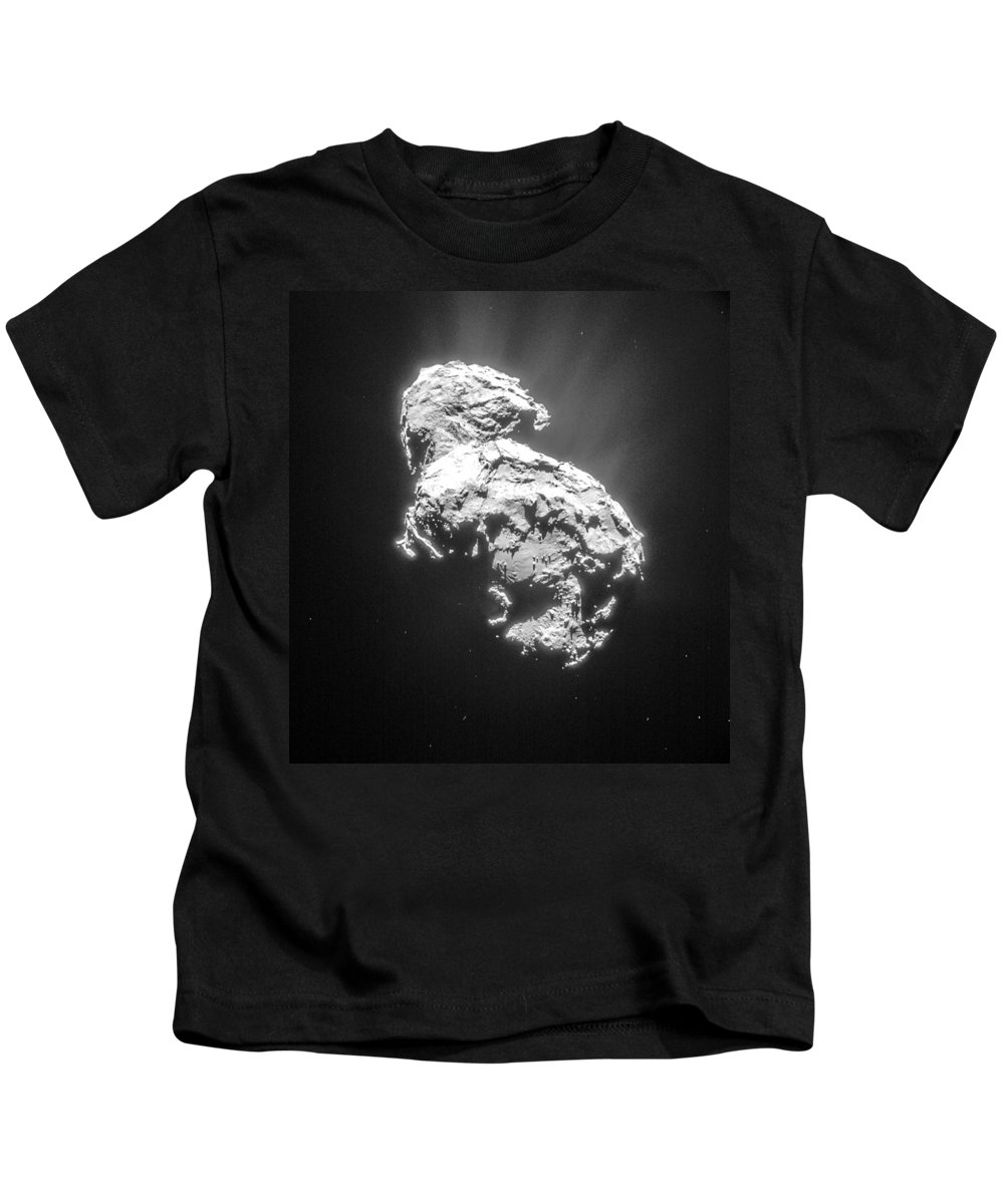 Comet Kids T-Shirt featuring the photograph Comet 67pchuryumov-gerasimenko by Science Source