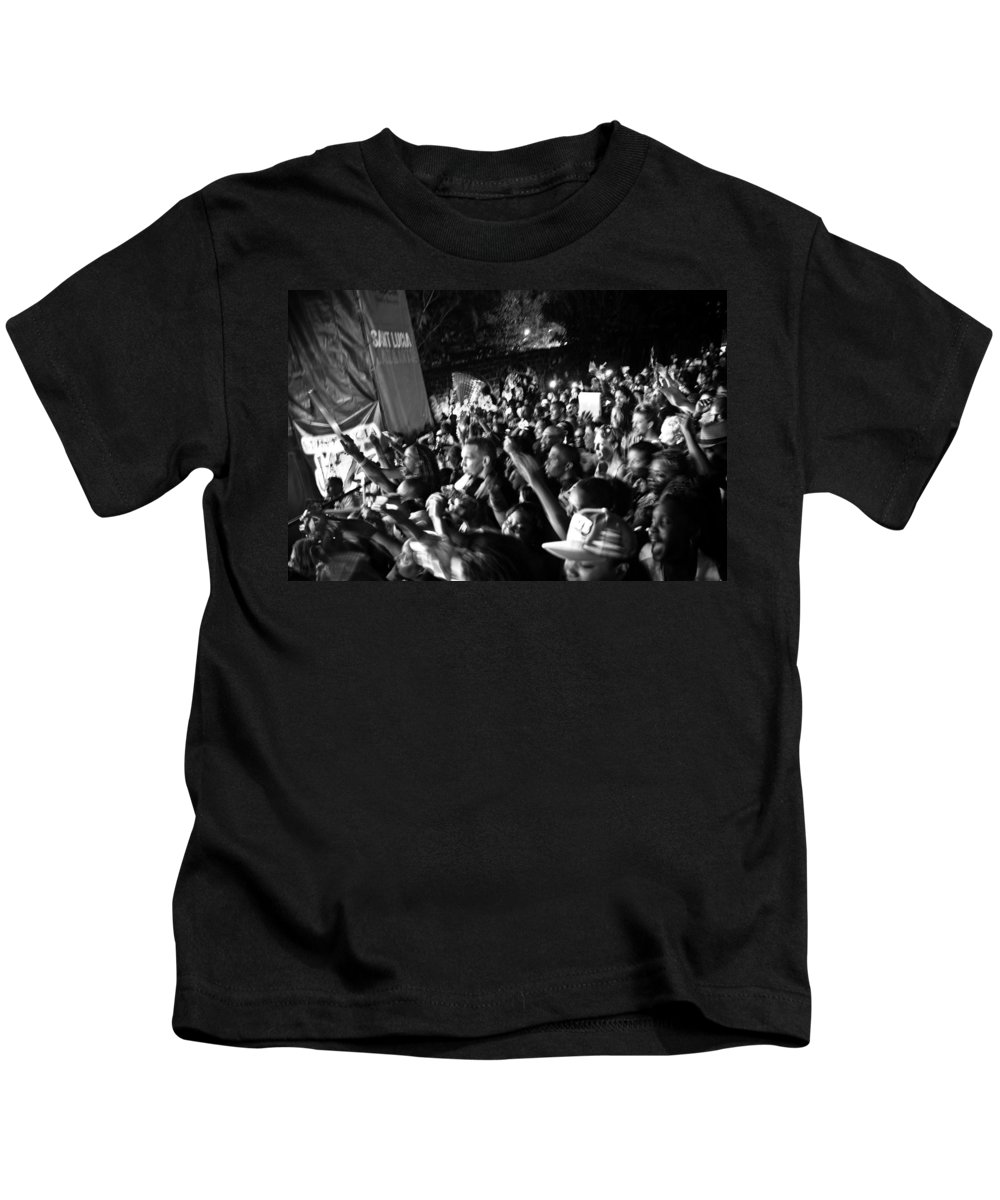 Concert Kids T-Shirt featuring the photograph Concert Crowd by Ferry Zievinger