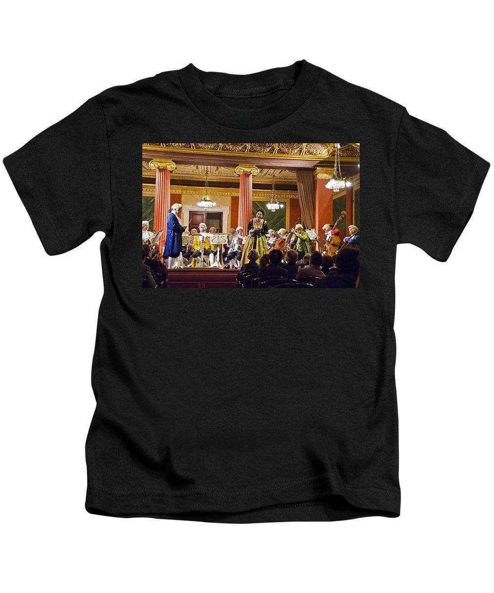 Gesellschaft Der Musikfreunde Kids T-Shirt featuring the photograph Concert In Vienna by Jon Berghoff