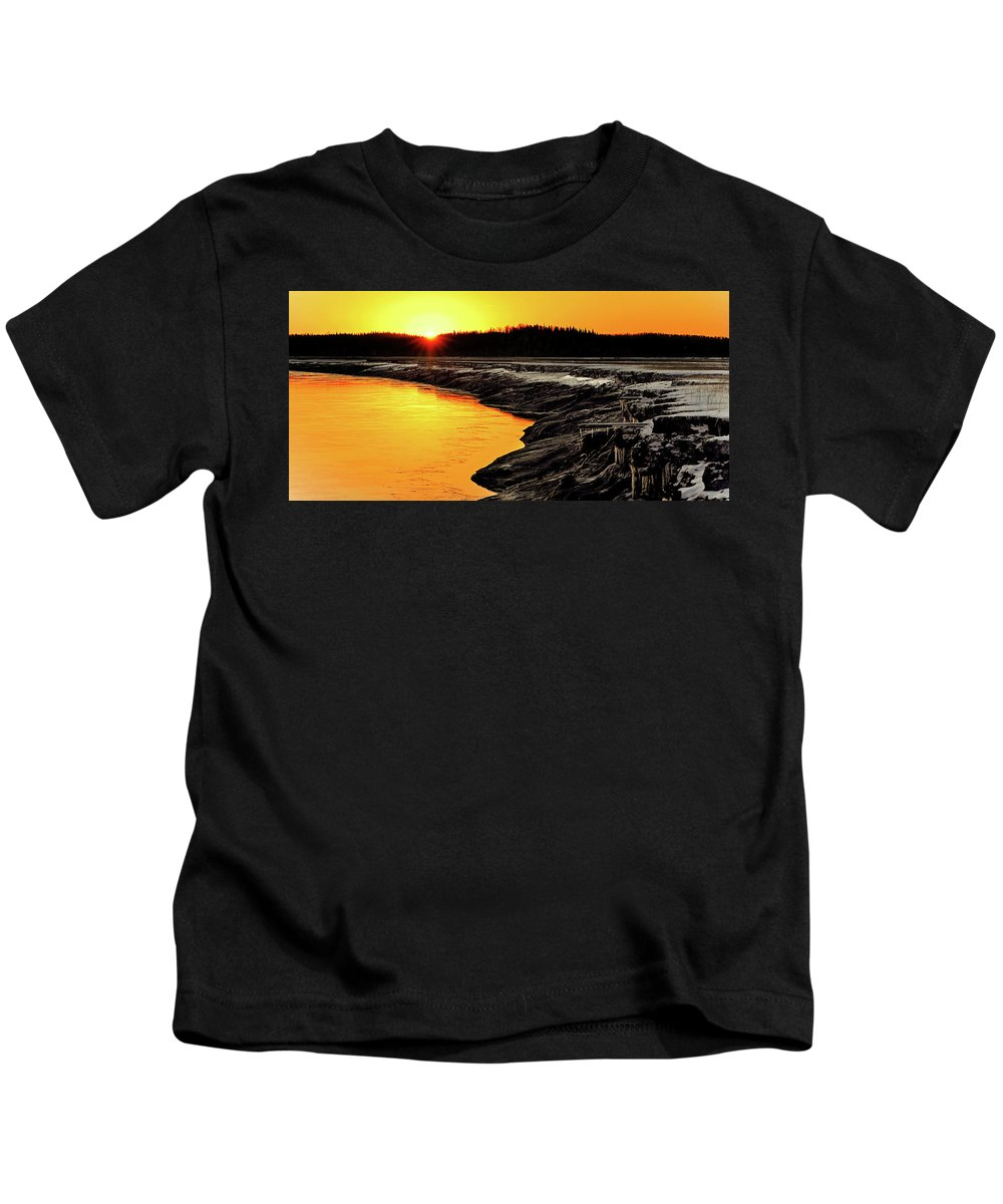 Alaska Kids T-Shirt featuring the photograph Contrasts In Nature by Ron Day