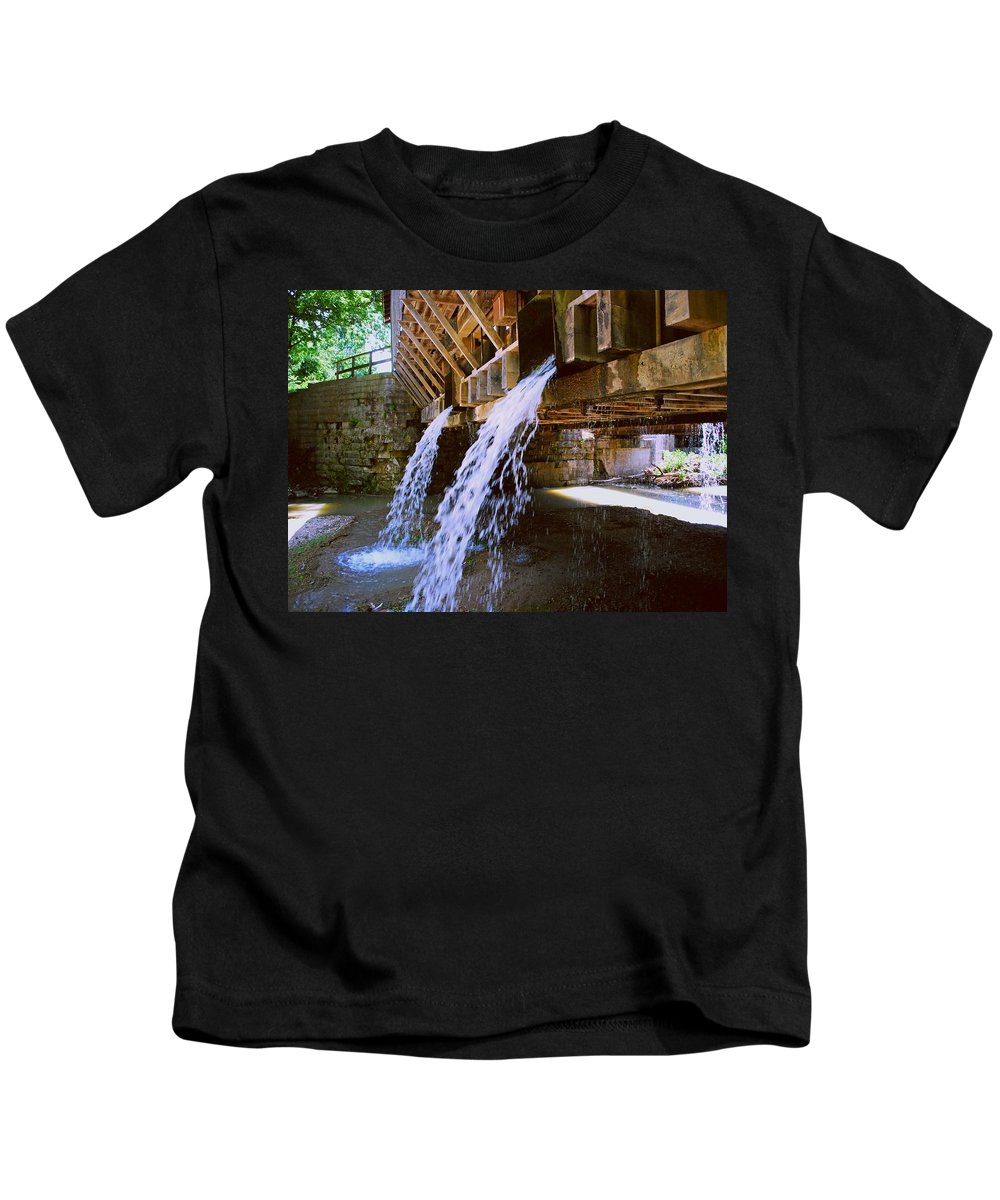 Indiana Kids T-Shirt featuring the photograph Country Waterfall by Gary Wonning