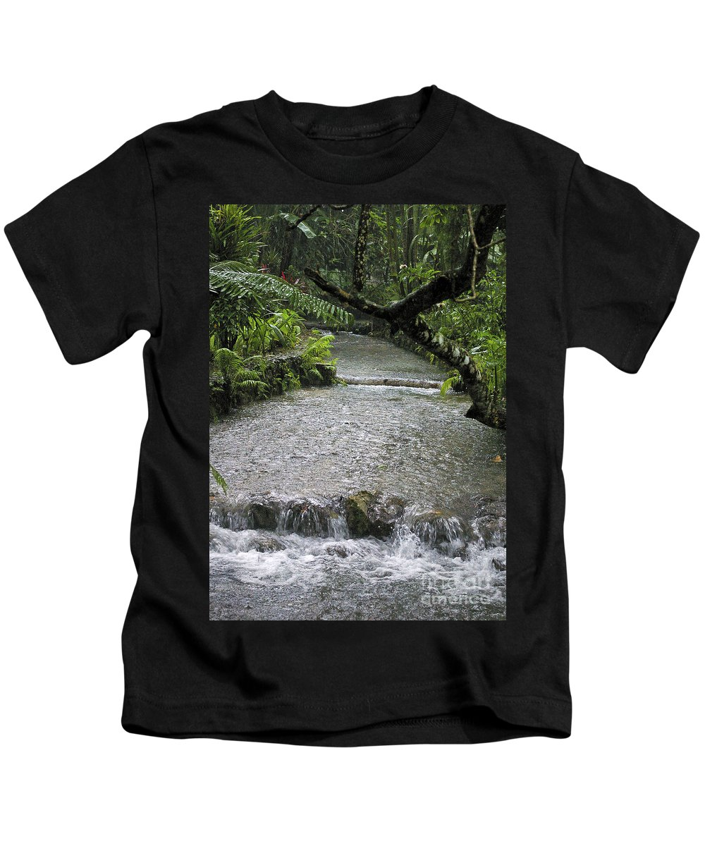 Jamaica Kids T-Shirt featuring the photograph Coyaba River Gardens 6 by Nancy L Marshall